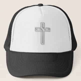 Jesus Logo in silver Trucker Hat