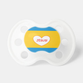 'Jesus!' Love Heart Baby Pacifier
