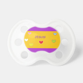 Jesus Love Hearts Baby Pacifier