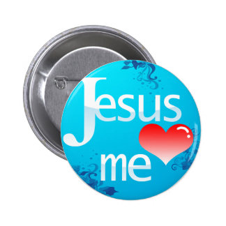 Jesus Love Me 6 Cm Round Badge