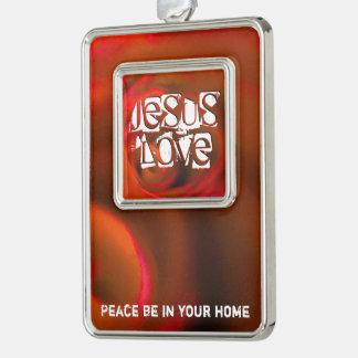 JESUS 'love Silver Plated Framed Ornament