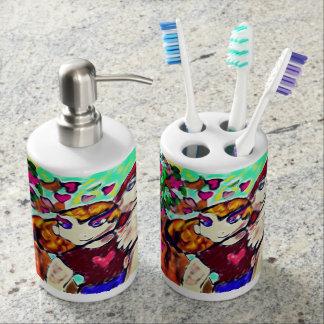 Jesus love soap dispenser and toothbrush holder