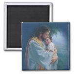 Jesus Love Square Magnet