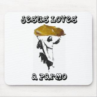 Jesus Loves A Parmo Mouse Mat