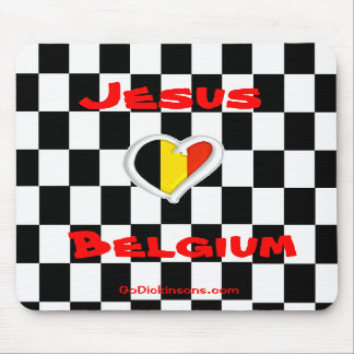 Jesus Loves Belgium Mousepad