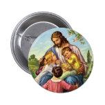 Jesus Loves Children Button