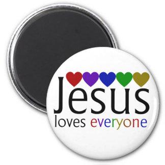 Jesus Loves Everyone 6 Cm Round Magnet