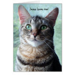 Jesus Loves Me Cat Card