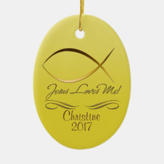 Jesus Loves Me! Christmas Ornament