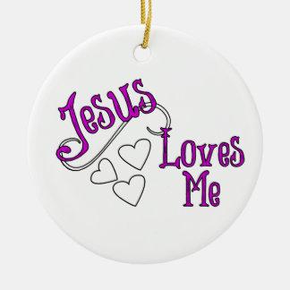 Jesus Loves Me Christmas Ornament