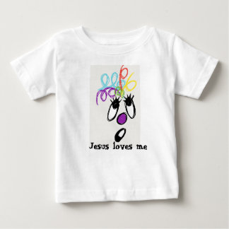 Jesus loves me crazy hair monster baby T-Shirt