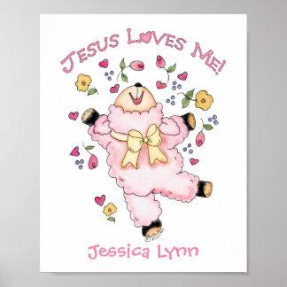 Jesus Loves Me Dancing Lamb Poster