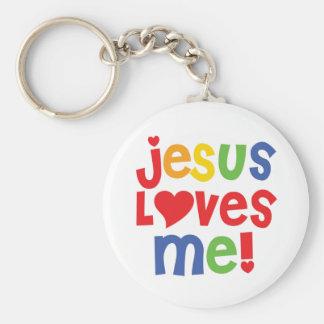 jesus loves me - keychain