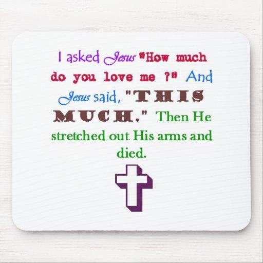Jesus Loves Me Mousemat