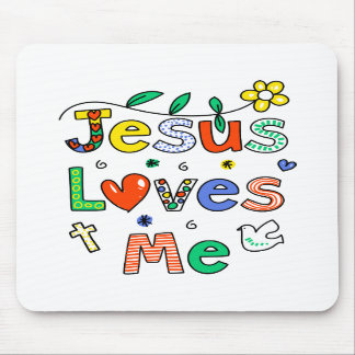 Jesus Loves Me Mouse Pads