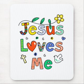 Jesus Loves Me Mouse Pad