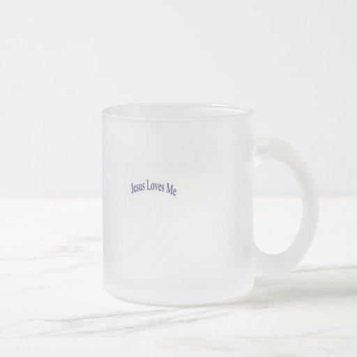 Jesus loves me coffee mug