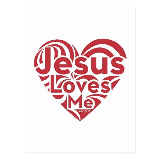 Jesus Loves Me Postcard
