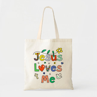 Jesus Loves Me Tote Bag