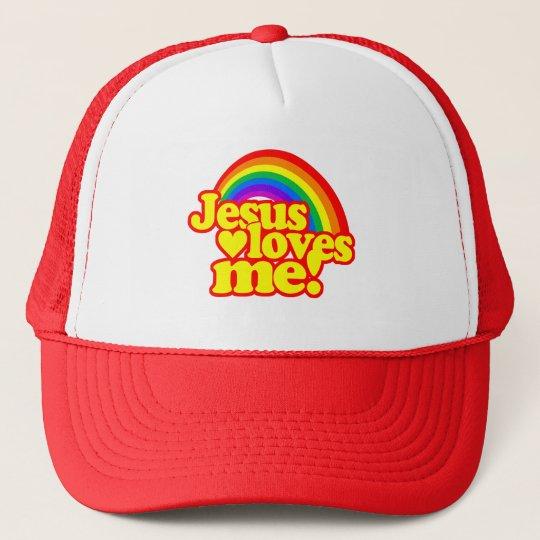 Jesus Loves Me (with Rainbow) Trucker Hat