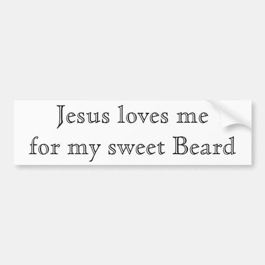 Jesus loves my beard bumper sticker