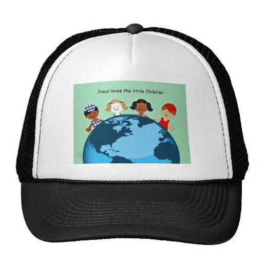 Jesus loves the little children. trucker hats