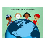 Jesus loves the little children. postcard