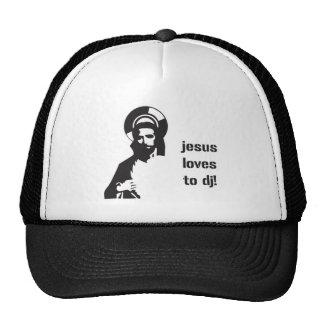 Jesus Loves To DJ - DJing Disc Jockey Music Trucker Hat