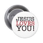 Jesus Loves You! 6 Cm Round Badge
