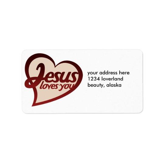 Jesus Loves you Address Label