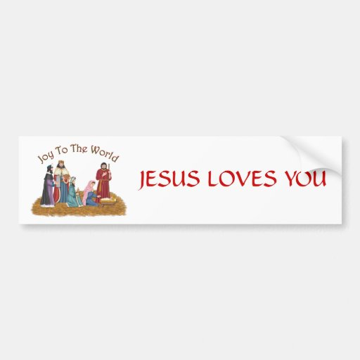 JESUS LOVES YOU BUMPER STICKERS