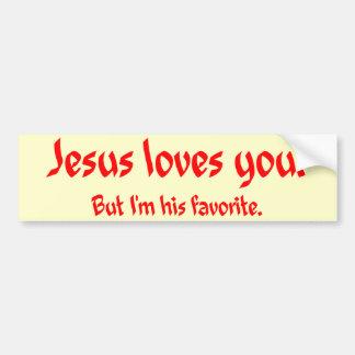 Jesus Loves You Bumper Sticker