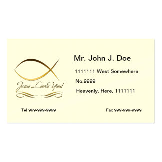 Jesus Loves You Business Card Template