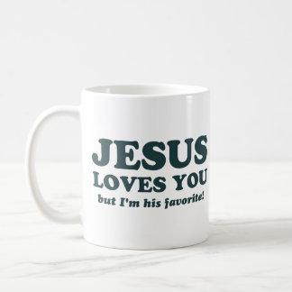 Jesus Loves You But I'm His Favorite Basic White Mug