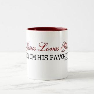 Jesus Loves You Favorite Two-Tone Mug
