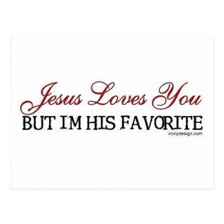 Jesus Loves You Favorite Postcard