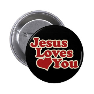Jesus Loves you for Christians 6 Cm Round Badge