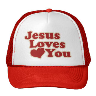 Jesus Loves you for Christians Cap