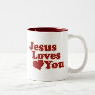 Jesus Loves you for Christians Mug