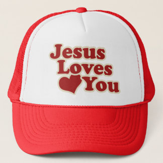 Jesus Loves you for Christians Trucker Hat