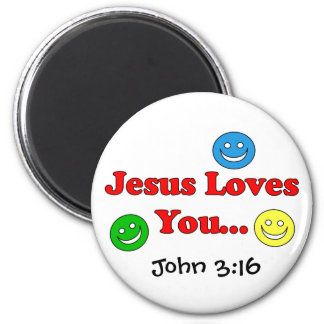 Jesus Loves You - John 3:16  Magnet