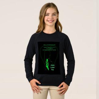 Jesus Loves You - Little Girl Green Sweatshirt