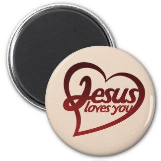Jesus Loves you Refrigerator Magnets