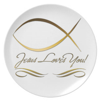 Jesus Loves You Plate