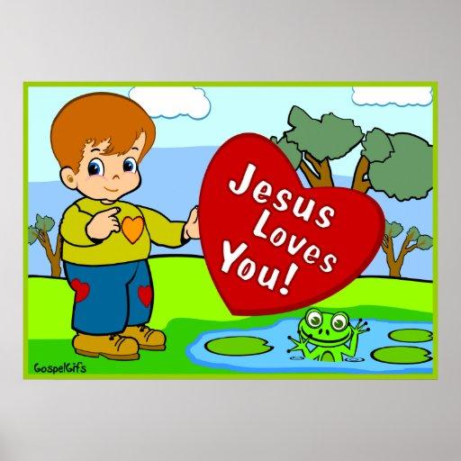 Jesus Loves You! Poster