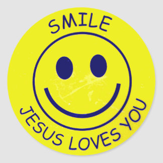 Jesus Loves You spalls Classic Round Sticker