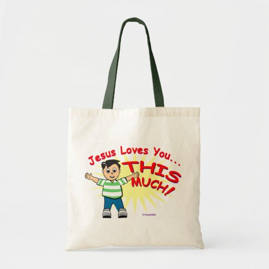 Jesus loves you this much Christian gift design