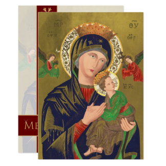 Jesus, Mary and Angels Vintage Fine Art Christmas Card