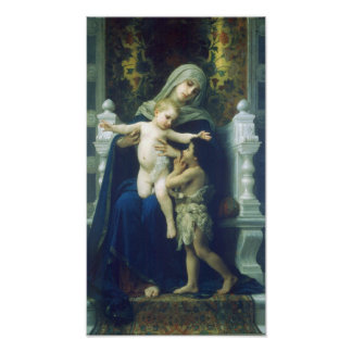 Jesus, Mary and John the Baptist Poster