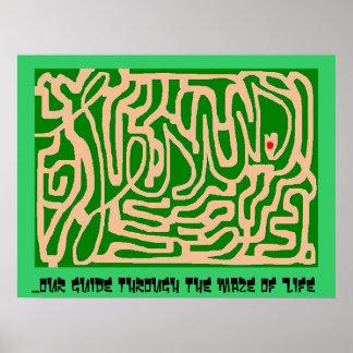 Jesus maze poster